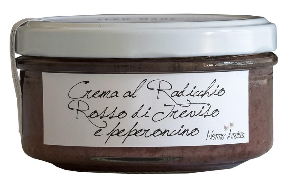 Crème de chicorée rouge de trévise et au piment BIO, Nonno Andrea (150 g)