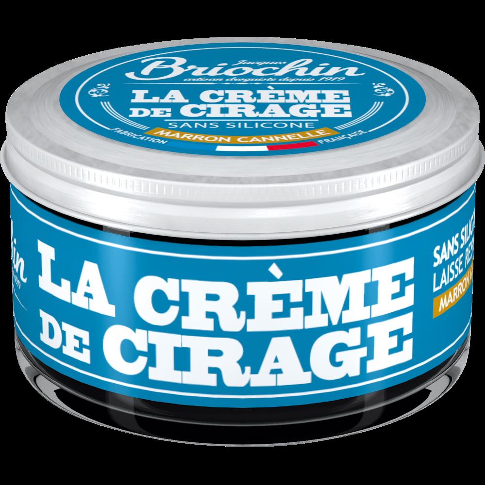 La crème de cirage marron cannelle sans silicone, Briochin (50 ml)