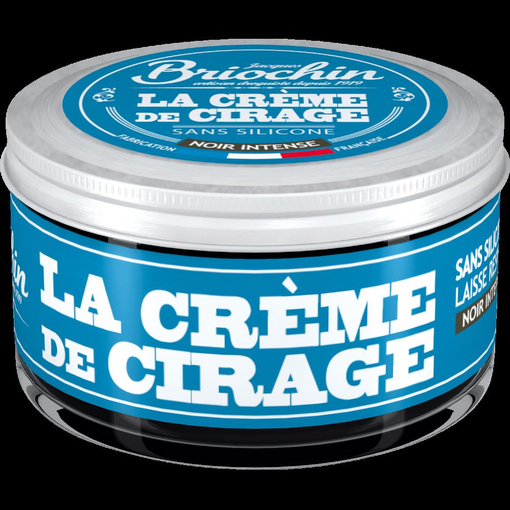 La crème de cirage noir intense sans silicone, Briochin (50 ml)