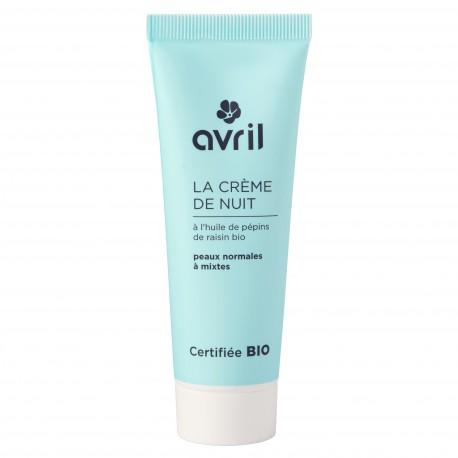 Crème de nuit peaux normales et mixtes certifiée BIO, Avril (50 ml)