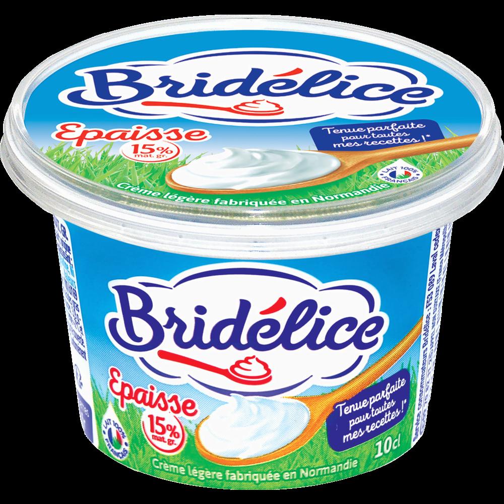 Crème fraîche épaisse légère, Bridélice (10 cl)