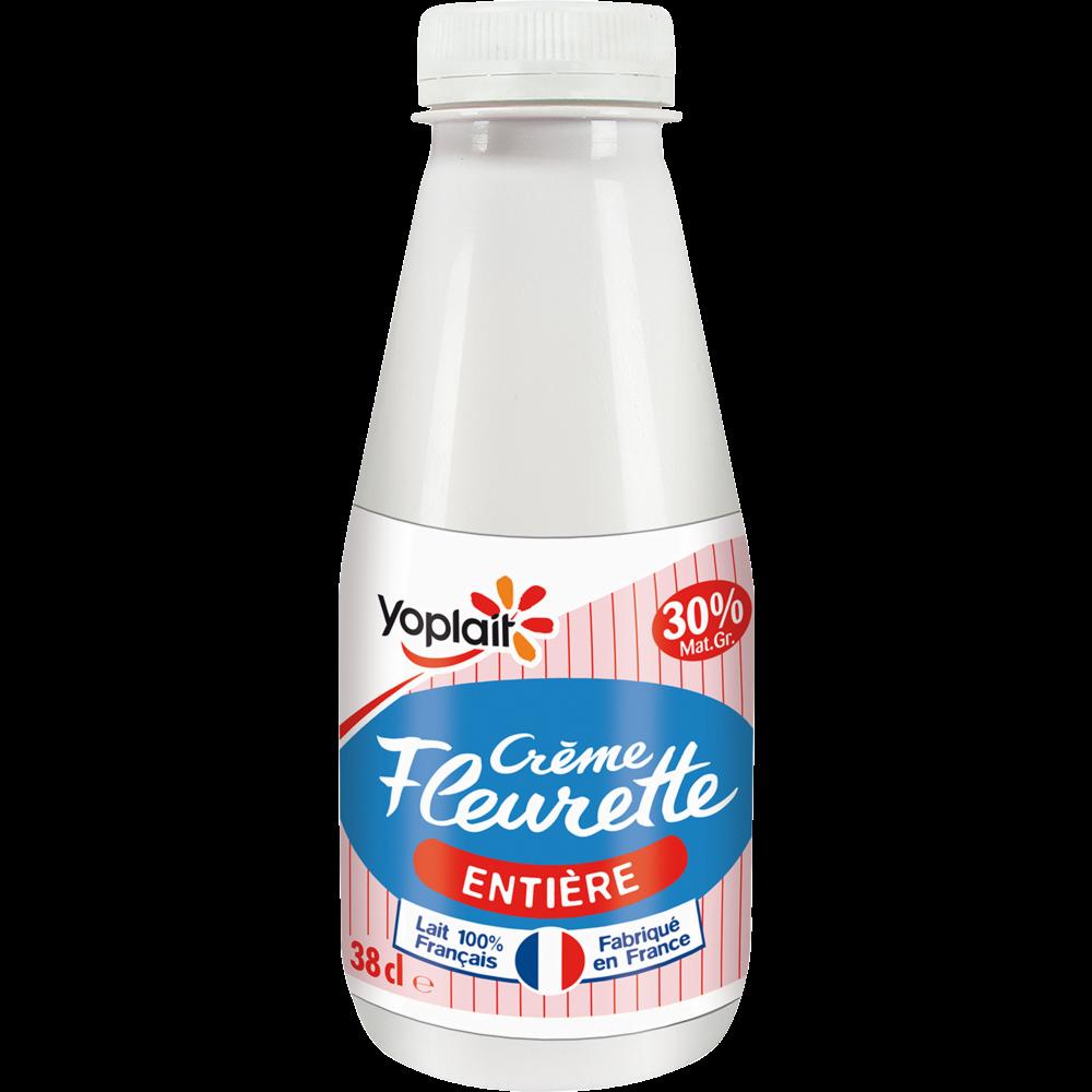 Crème fraîche fluide entière Fleurette 30%, Yoplait (38 cl)
