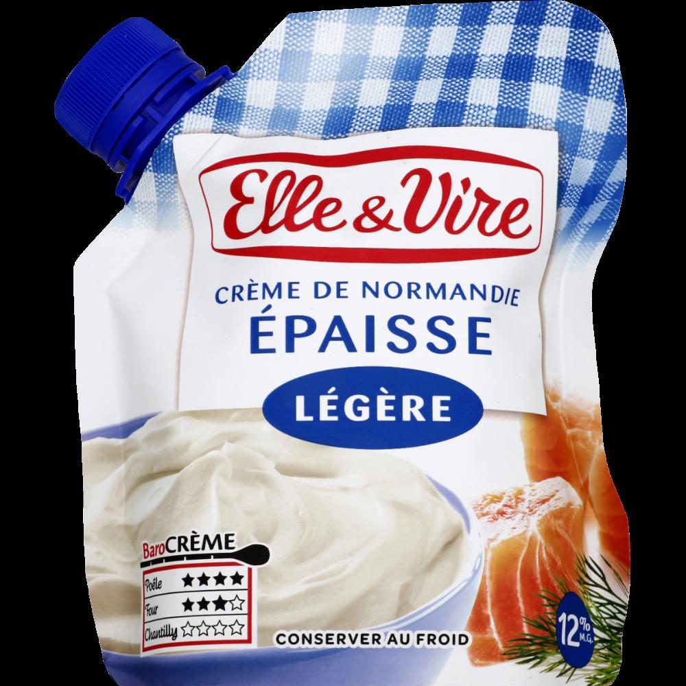 Crème légère épaisse 12% de MG, Elle & Vire (33 cl)