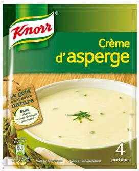 Potage crème d'asperges déshydraté, Knorr (4 portions)