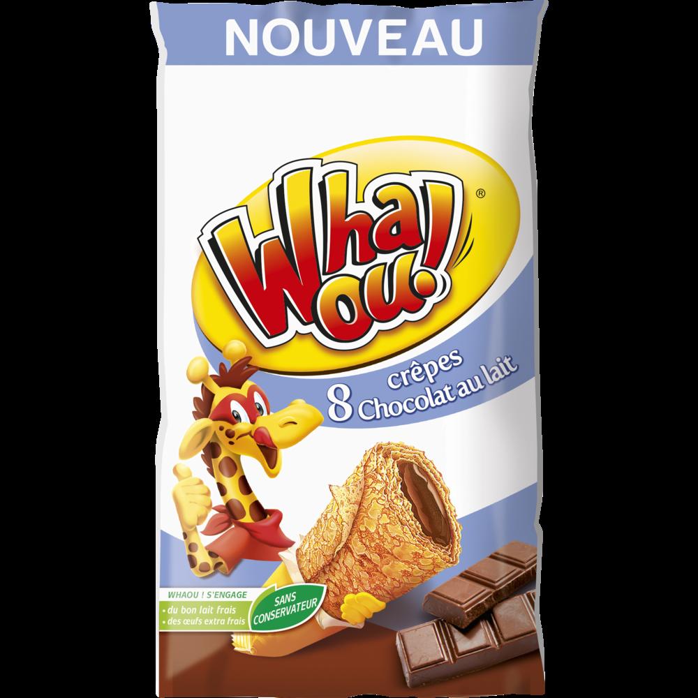 Crêpes Whaou fourrées au chocolat au lait (x 8, 256 g)