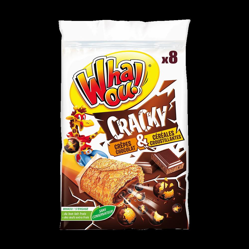 Crêpes fourrées chocolat et céréales cracky, Whaou (x 8, 256 g)