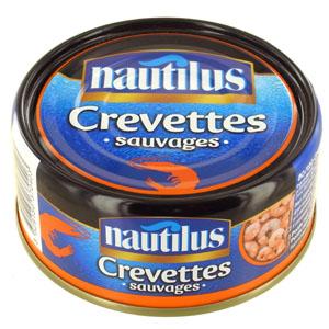 Crevettes décortiquées mer chaude, Nautilus (105 g)