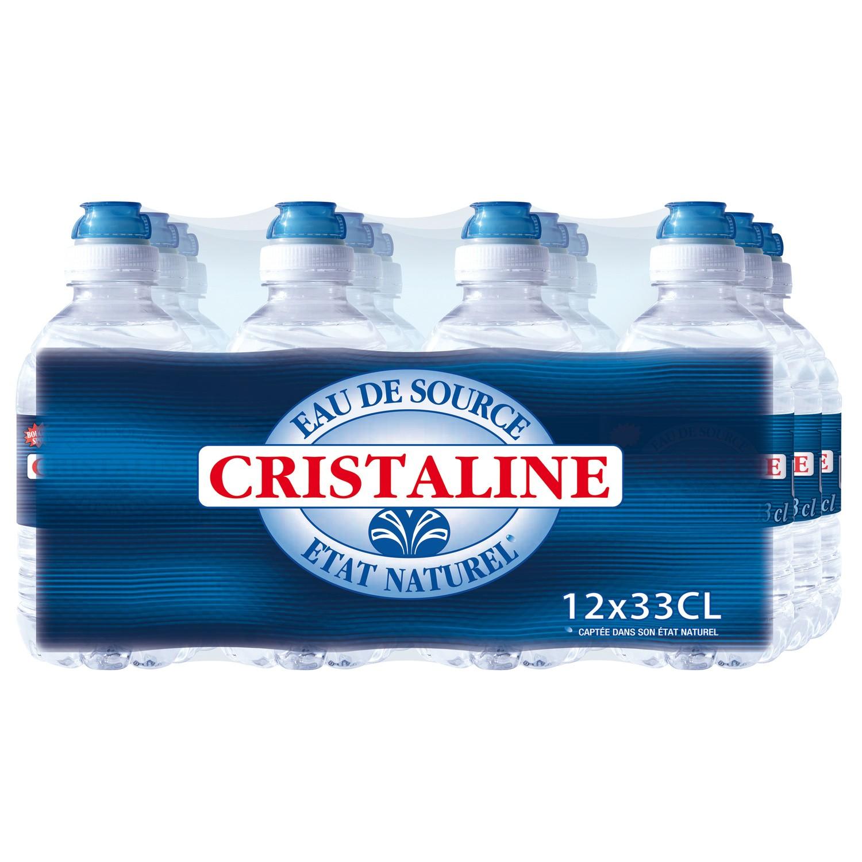 Pack Cristaline bouchon sport (12 x 33 cl)