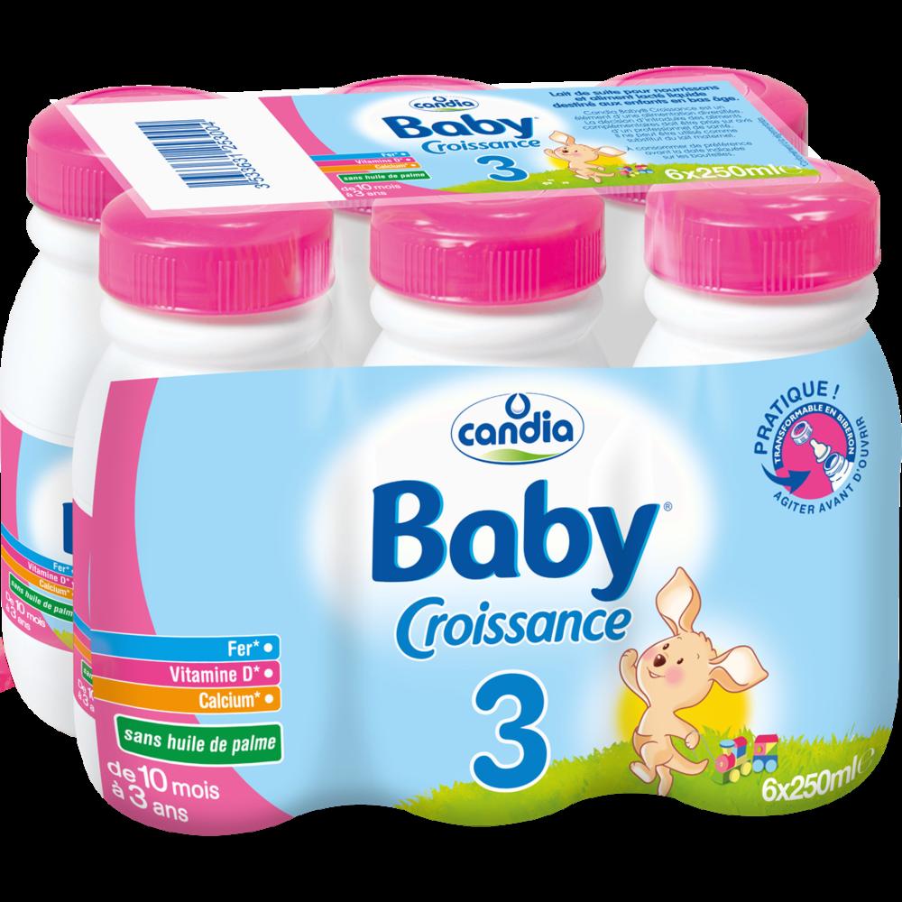 Lait de croissance 3 - de 10 mois à 3 ans , Candia Baby (25 cl)