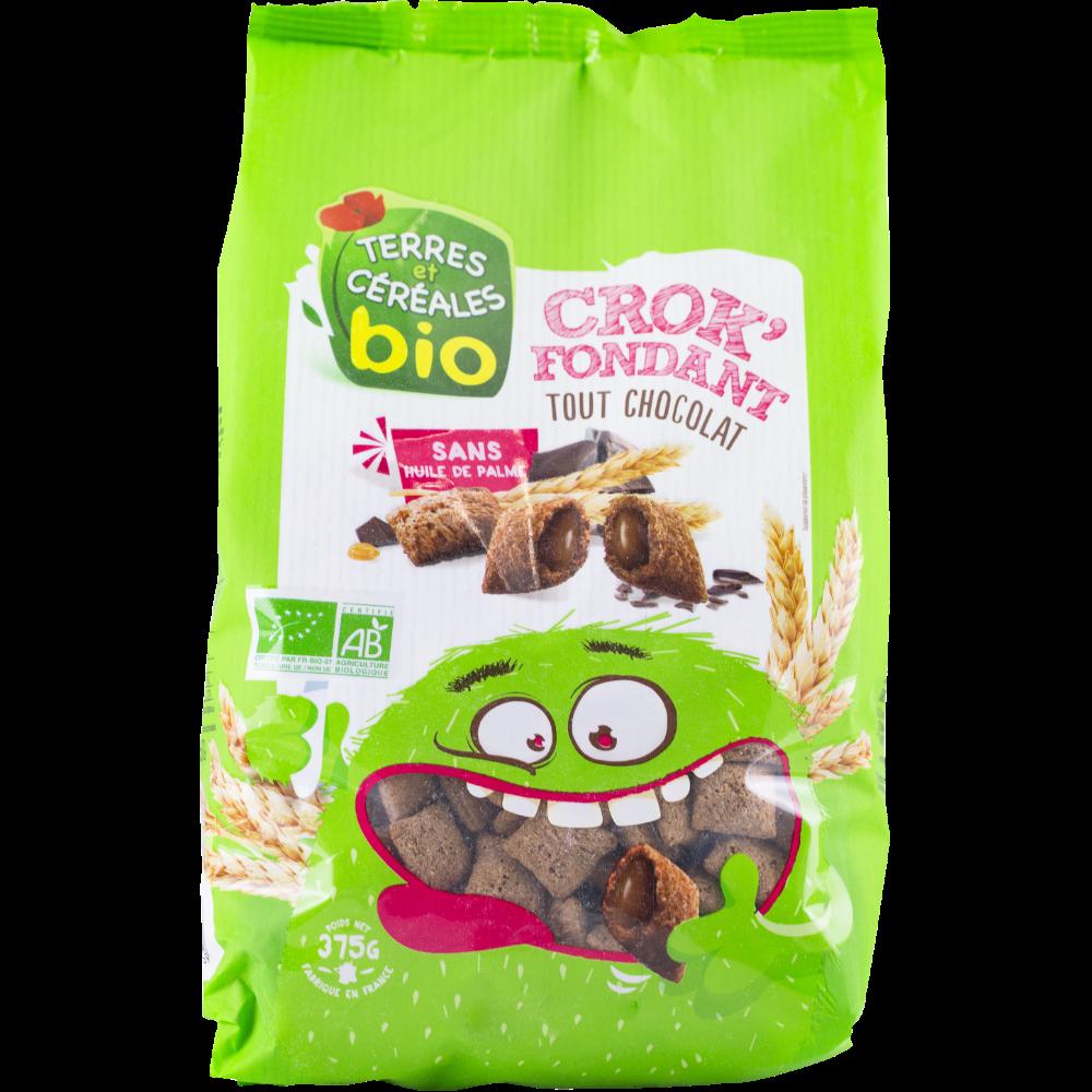 Crok'fondant tout chocolat BIO, Terre et céréales (375 g)