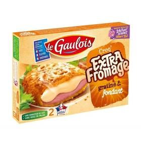 Croq' Extra Fromage gratiné & fondant, Le Gaulois (x2, 200 g)