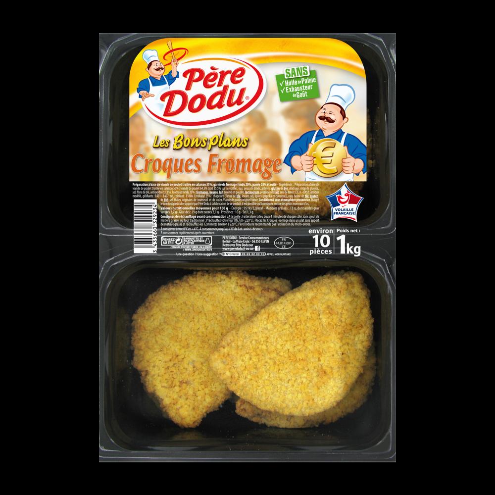 Croques fromage de poulet, Père Dodu (x 10 pièces, 1 kg)