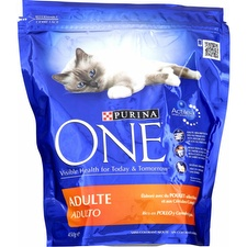 Croquettes pour chat au poulet, Purina One (450 g)