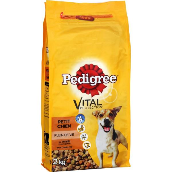 Croquettes pour petits chiens volaille/ légumes/ riz, Pedigree (2 kg)