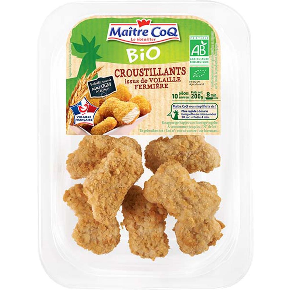 Nuggets croustillants BIO, Maître Coq (200 g)