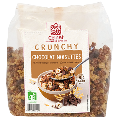 Crunchy chocolat noisettes BIO, Celnat (500 g)
