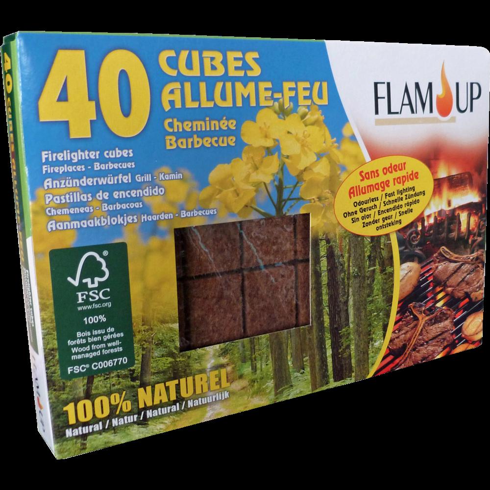 Allume feux écologiques 100% naturels, Flam Up (x 40)