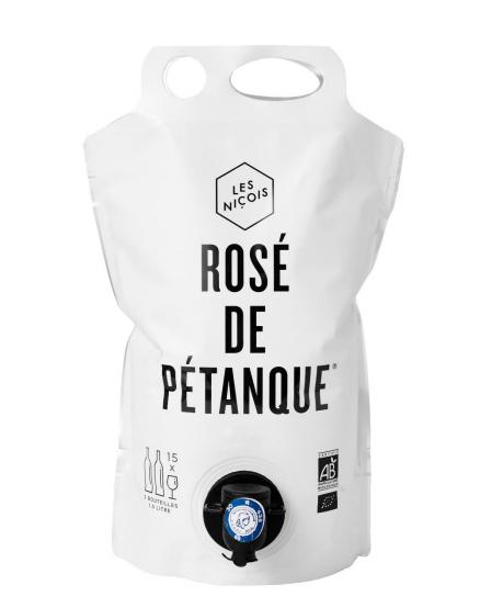 Cubi souple Rosé de pétanque BIO, Les Niçois (1.5 L)