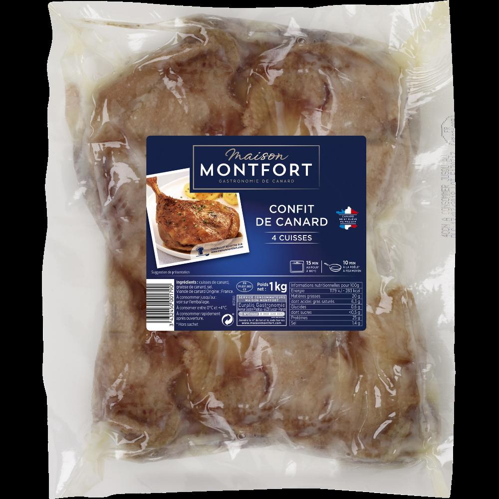 Cuisses de canard confite, Maison Monfort (x 4)