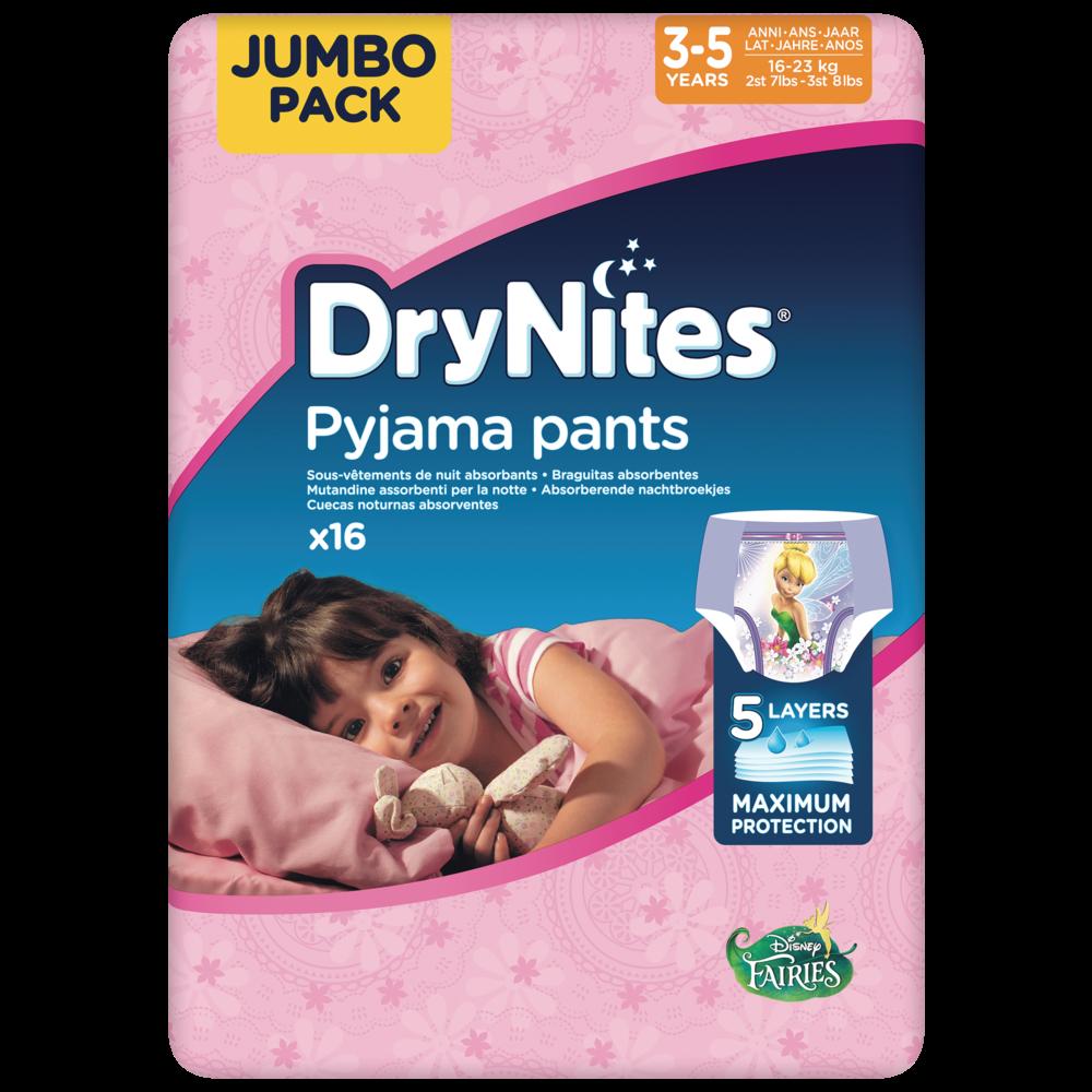 Culottes drynites 3-5 girls Disney / 16-23 kg, Huggies (x 16)