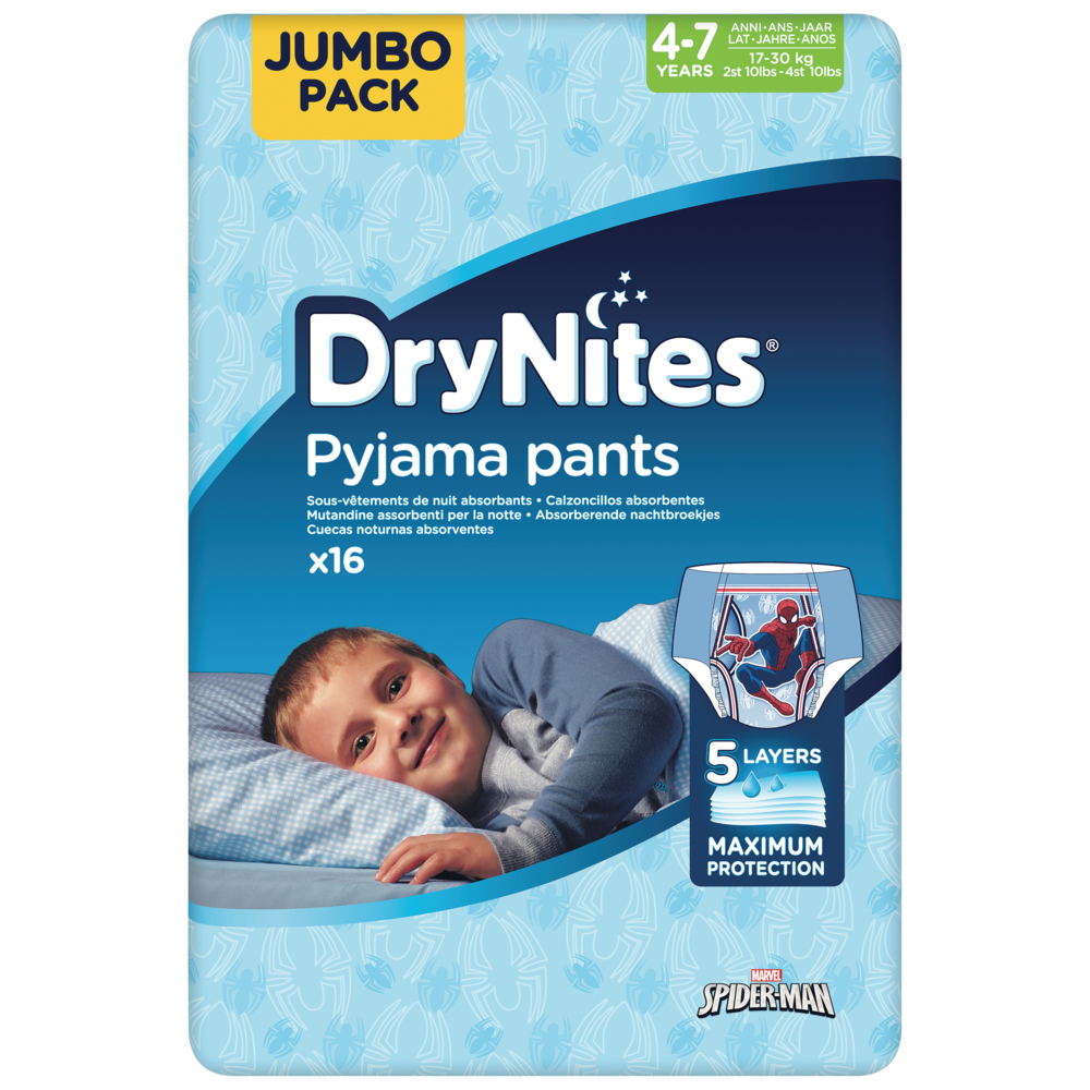 Culottes drynites 4-7 boys Disney / 17-30kg, Huggies (x 16)
