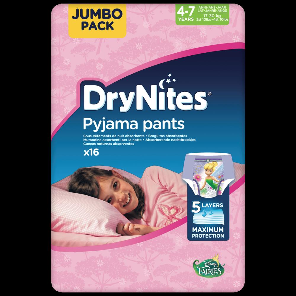 Culottes drynites 4-7 girls Disney / 17-30 kg, Huggies (x 16)