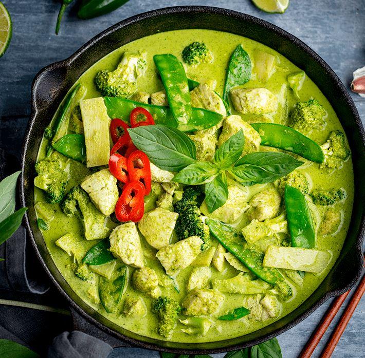 Curry vert thaï au poulet fermier (300 g)