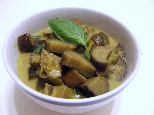 Sauce curry vert et aubergines thaï maison (200 g)