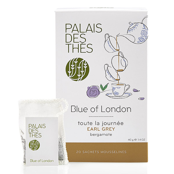 Thé noir Earl Grey Bergamote Blue of London, Palais des Thés (x 20)