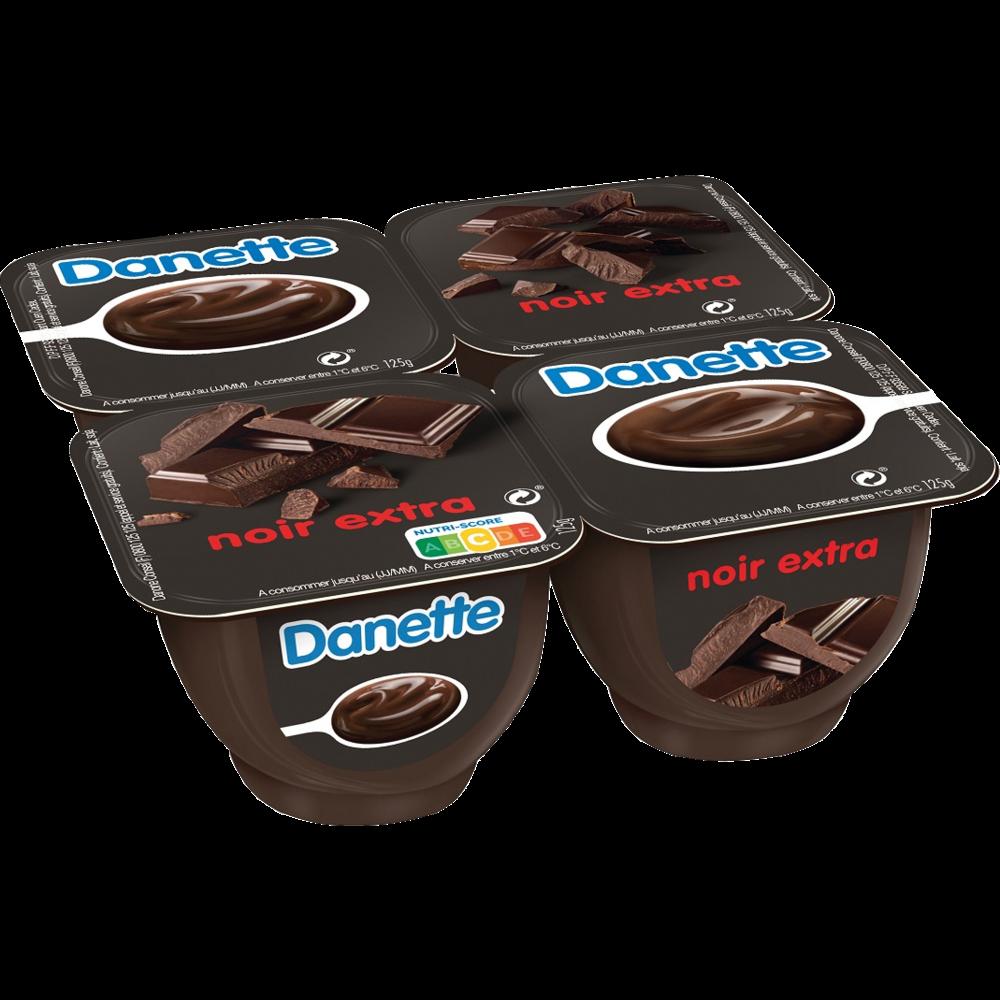 Danette au chocolat extra noir (4 x 125 g)