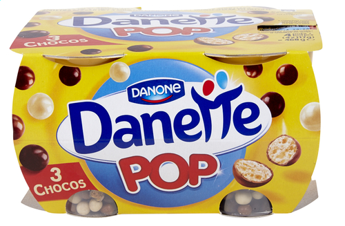 Danette Pop Vanille et billes 3 Chocolats (x 4)