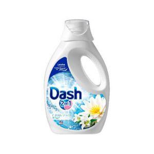 Lessive liquide Dash 2 en 1 Fleur de Lys et lotus (1,63 L)