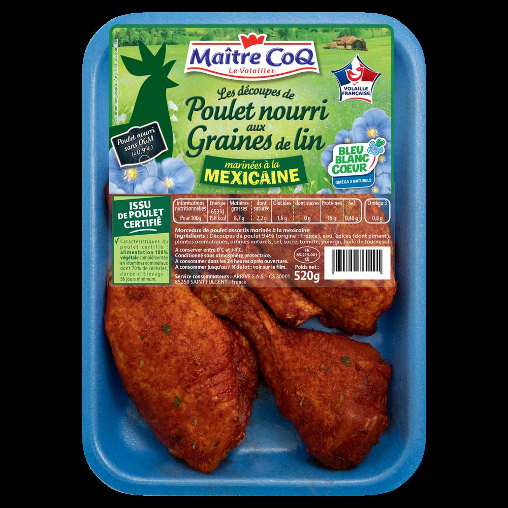 Découpe de poulet à la mexicaine, Maître Coq (520 g)