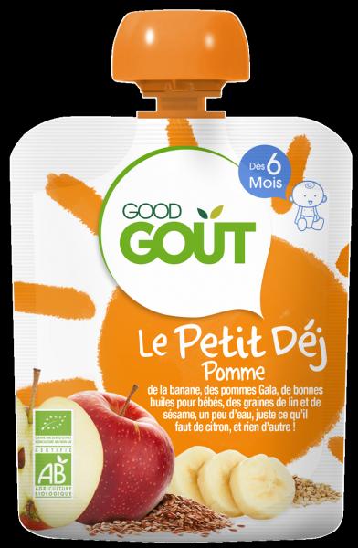 Le Petit Déj' Pomme, Good Goût (70 g) - dès 6 mois