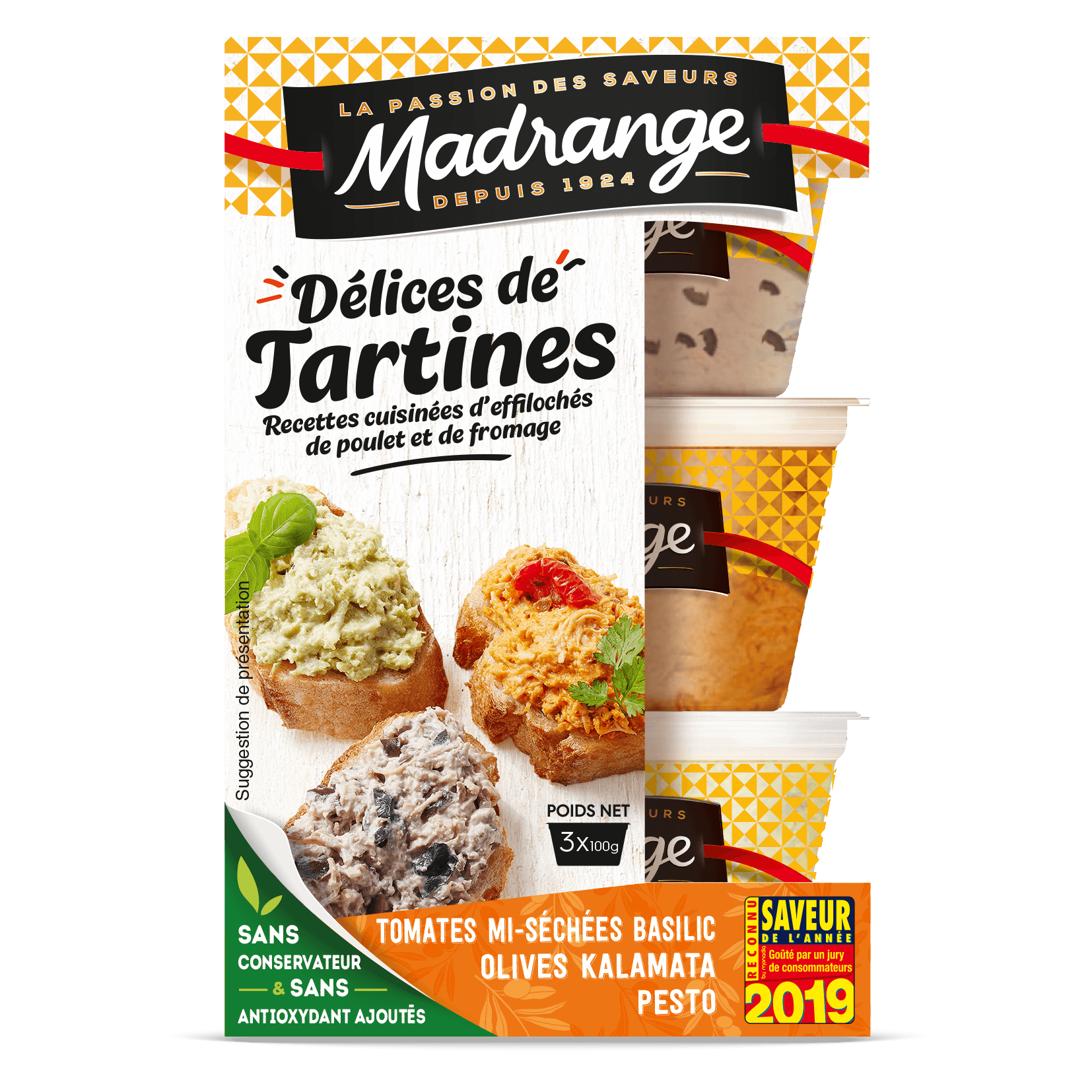 Délices de Tartines saveurs méditerranéennes, Madrange (3 x 100 g)