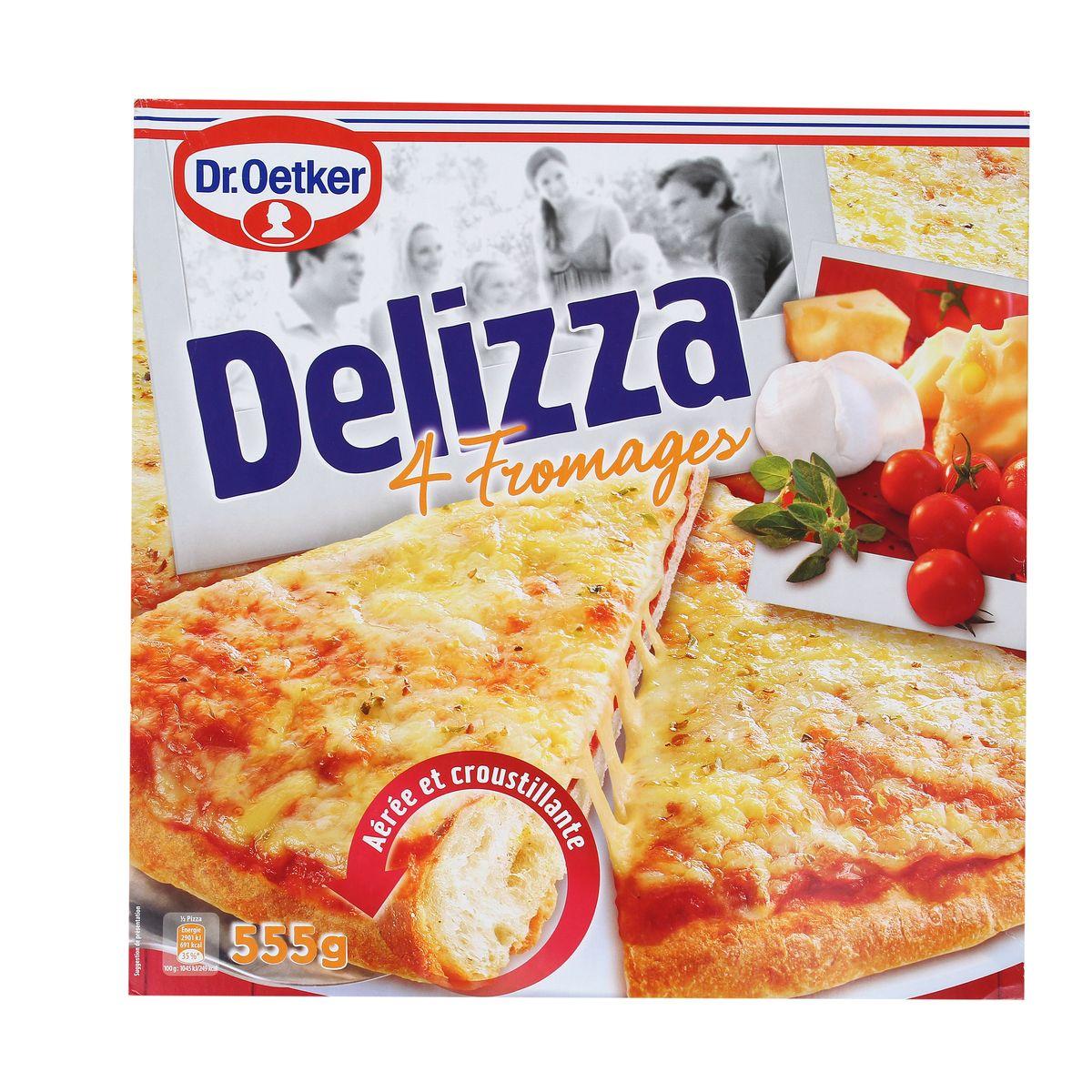 Pizza Delizza 4 Fromages, Dr Oetker surgelé (555 g)