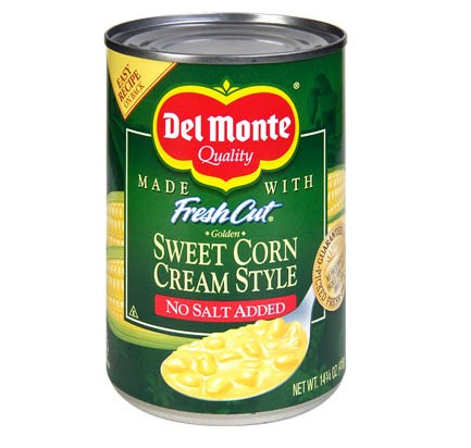 Sweet corn cream style, Del Monte (418 g)