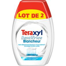 Dentifrice 2 en 1 blancheur, Teraxyl LOT DE 2 (2 x 75 ml)