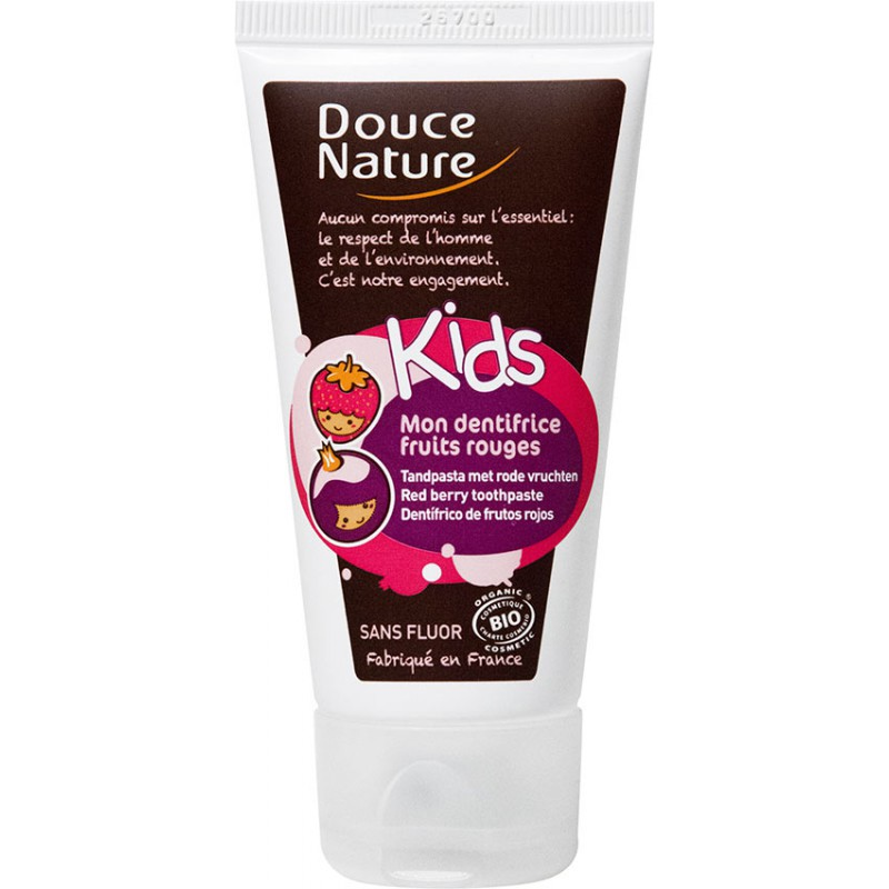 Mon dentifrice fruits rouge KIDS, Douce Nature (50 ml)