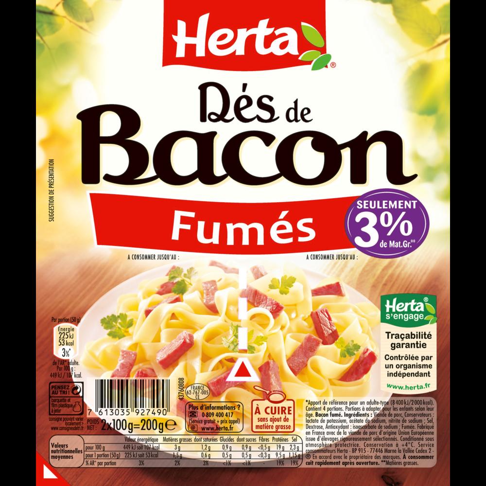 Dés de bacon fumés, Herta (200 g)
