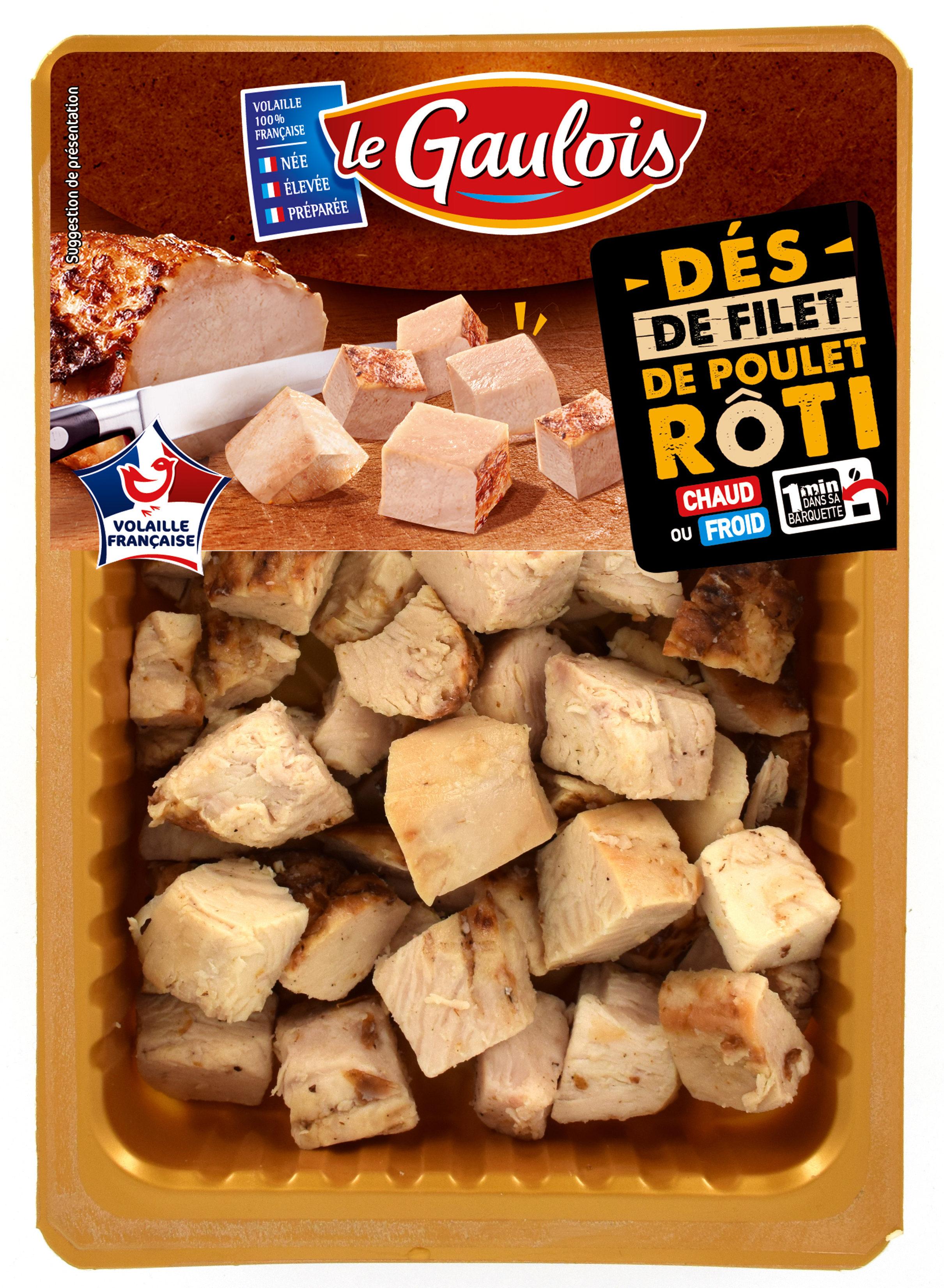 Dés de filet de poulet rôti, Le Gaulois (180 g)