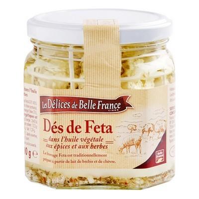 Dés de Feta grecque à l'huile AOP, Délices de Belle France (300 g)