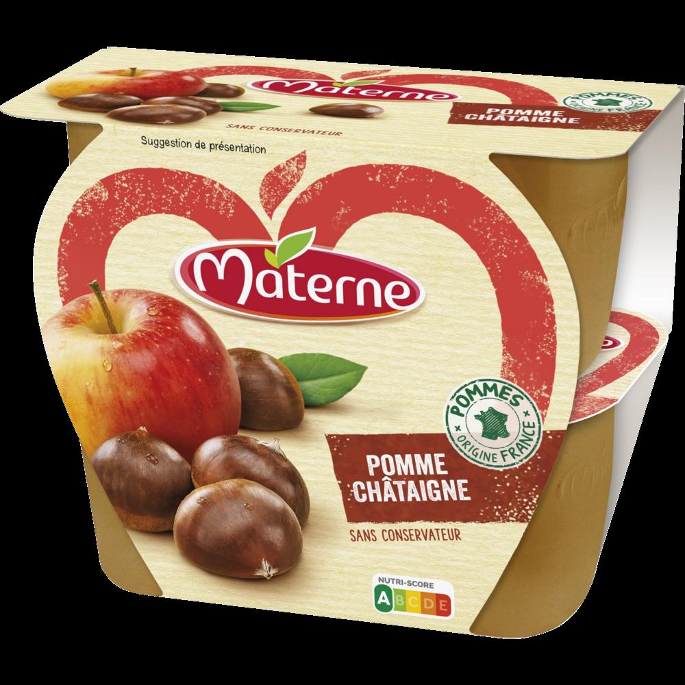 Compote pomme châtaigne, Materne (4 x 100 g)