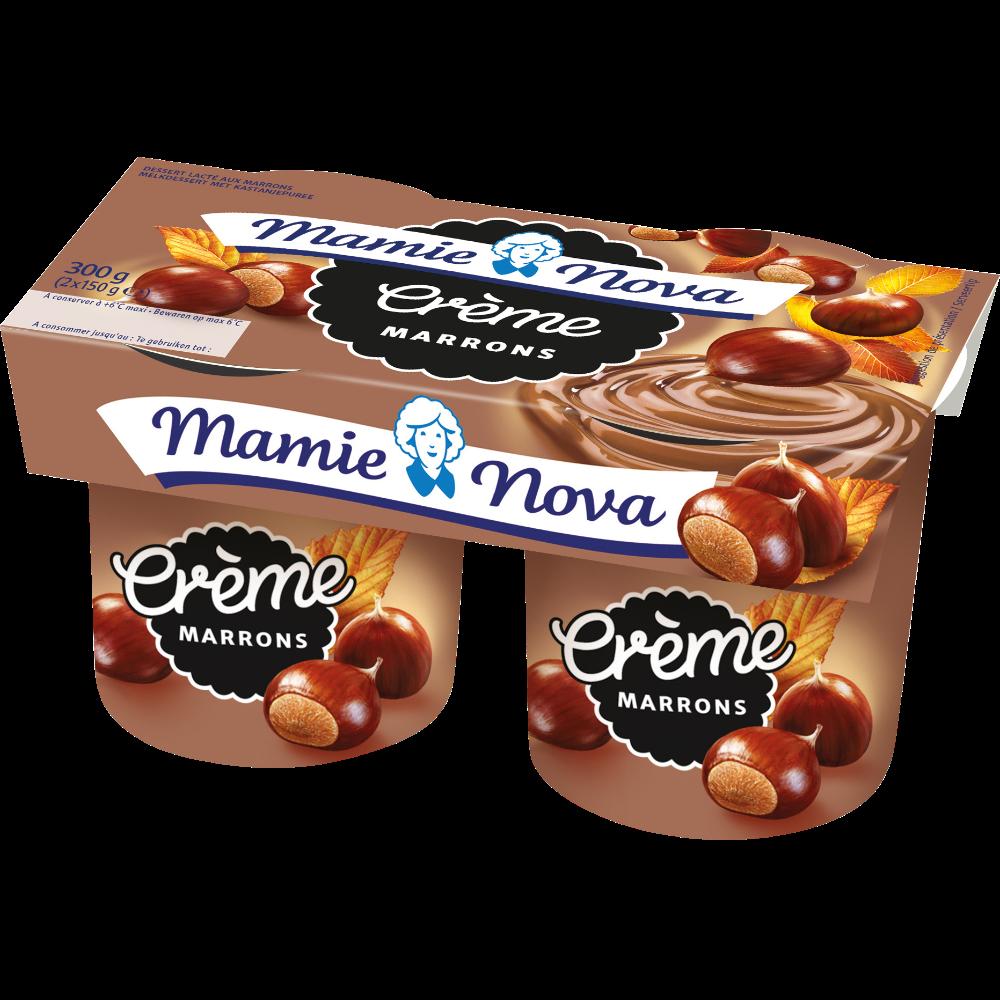 Dessert lacté à la crème de marrons, Mamie Nova (2 x 150 g)