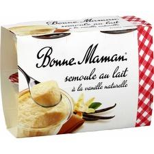 Semoule au lait à la vanille, Bonne Maman (4 x 100 g)