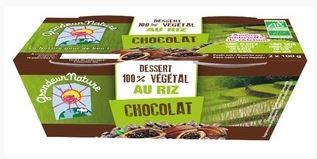 Dessert végétal riz chocolat BIO, Grandeur Nature (x 2, 200 g)