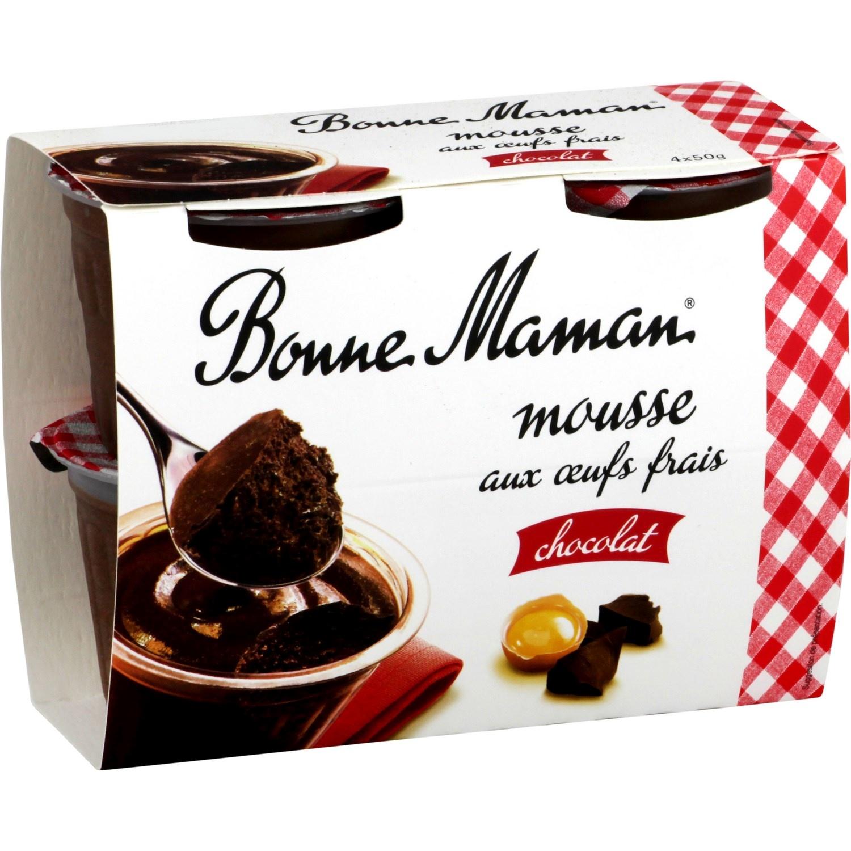 Mousse au chocolat, Bonne Maman (4 x 50 g)