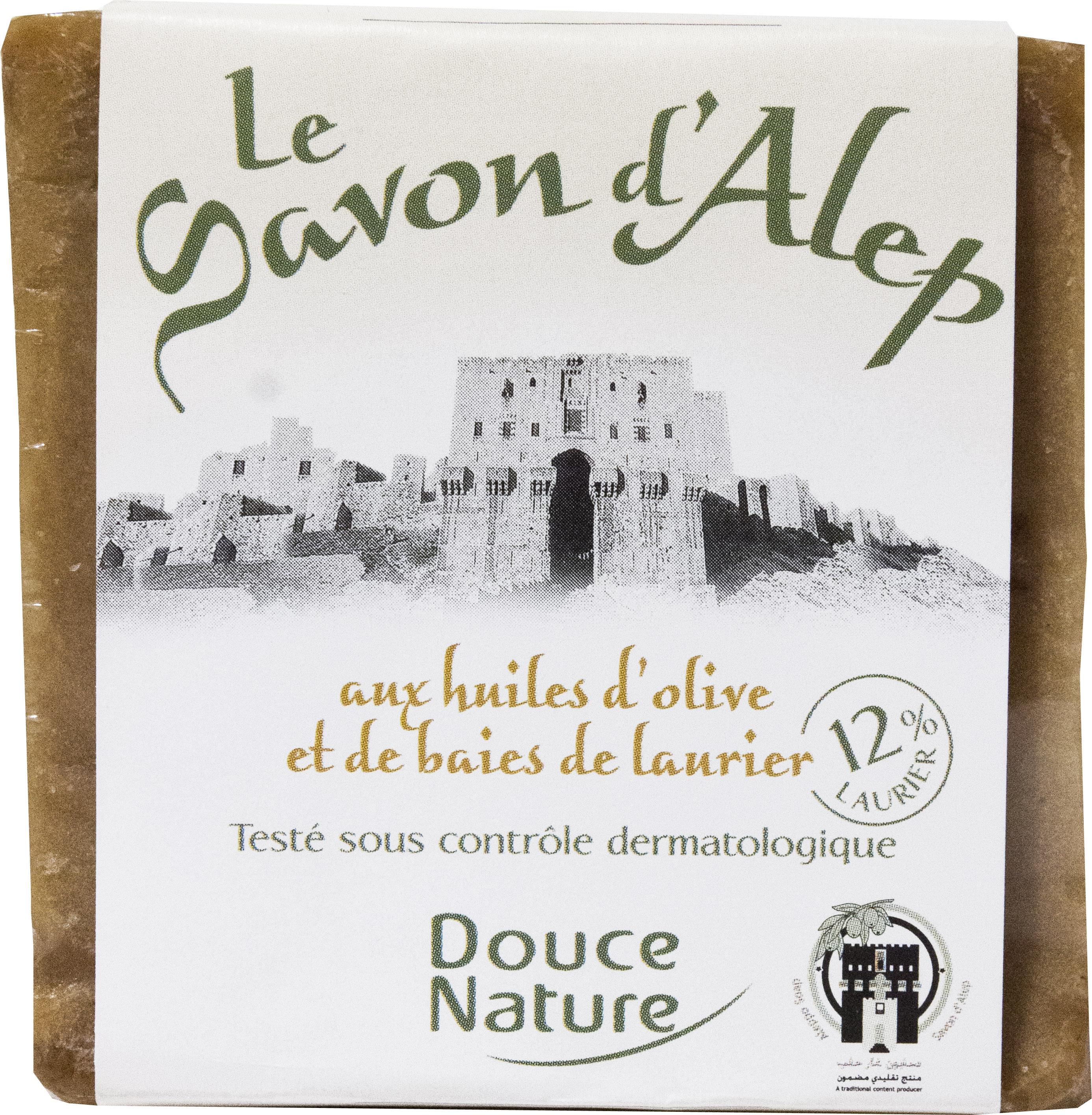 Savon d'Alep aux huiles d'olive et de baies de laurier, Douce Nature (200 g)