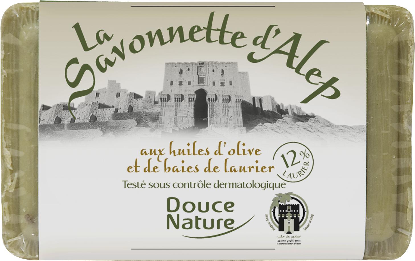 Savonnette d'Alep aux huiles d'olive et baies de laurier BIO, Douce Nature (100 g)