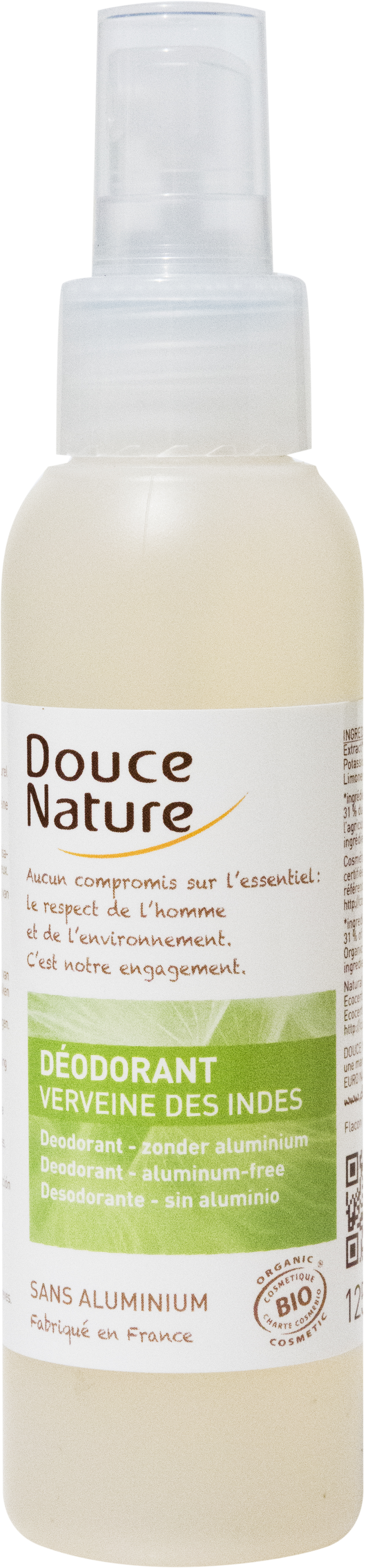 Déodorant spray Verveine des Indes, Douce Nature (125 ml)